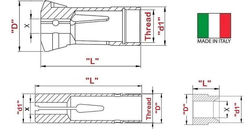Zangen und Buchsen für Drehmaschine